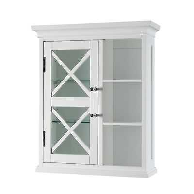 Grayson Wall Cabinet with one Door and Cubbies by Elegant Home Fashions - eBay