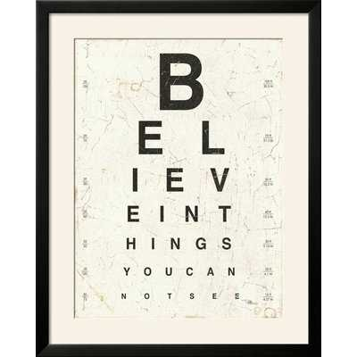 'Eye Chart I' Framed Textual Art Print - Wayfair