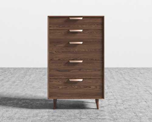 Asher Tall Dresser - Walnut Veneer - Rove Concepts