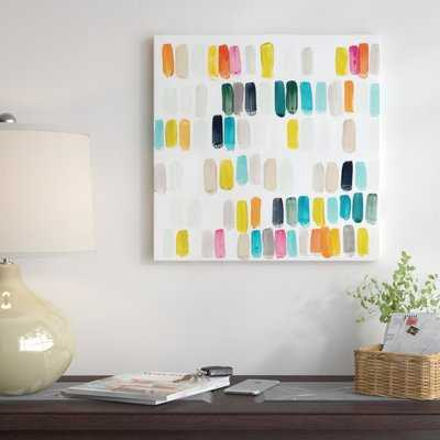 'Bright Swatches I' Painting Print on Wrapped Canvas - AllModern