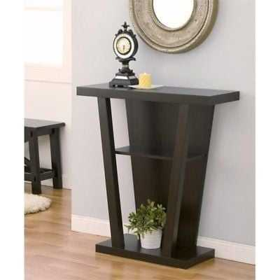 Bowery Hill Modern Console Table in Cappuccino - eBay