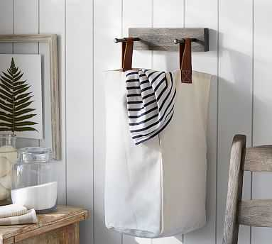 Lombard Laundry Bag and Holder - Pottery Barn