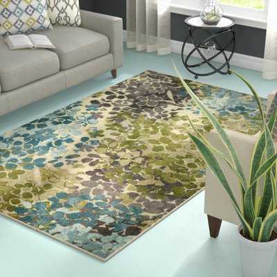 Myia Floral Beige Area Rug - Birch Lane