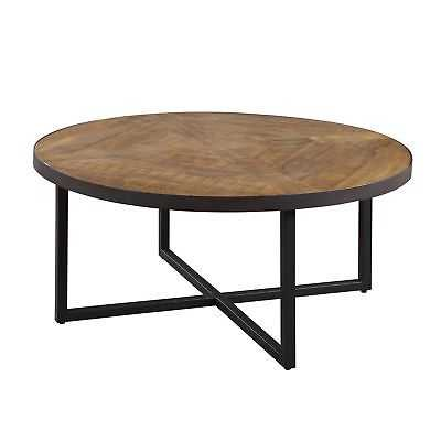 Emerald Home Denton Rustic Round Cocktail Table - eBay