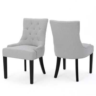Hayden Light Grey Fabric Dining Chair (Set of 2) - Home Depot