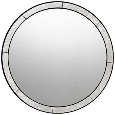 """Quoizel Revival Black 30"""" Round Wall Mirror - Style # 43E42 - Lamps Plus"""