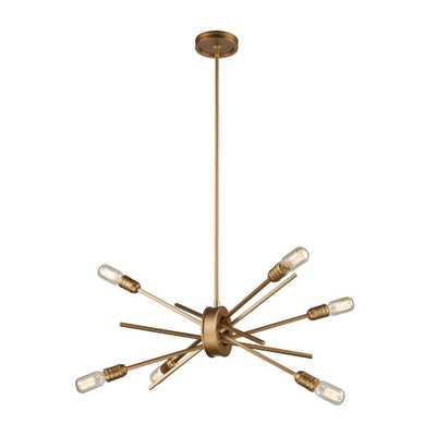 Titan Lighting Xenia 6-Light Small Matte Gold Chandelier - Home Depot