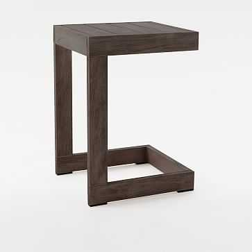 Portside C-Side Table, Weathered Cafe - West Elm