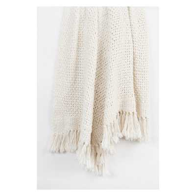 """Throw Blankets 50""""X60"""" White - Rizzy Home - Target"""
