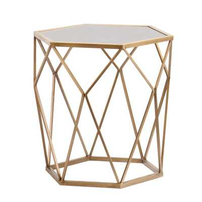 Alyse Metallic Gold End Table - Home Depot