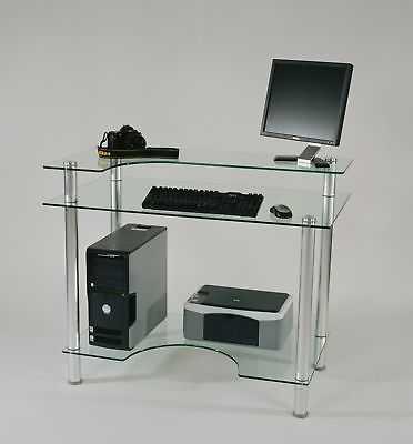 Tier One Designs Glass Computer Desk - eBay
