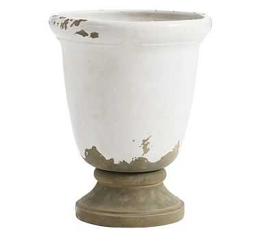 Tuscan Pedestal Planter, Large, White - Pottery Barn