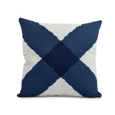 E by Design X Marks the Spot 20 in. Navy (Blue) Decorative Nautical Throw Pillow - Home Depot