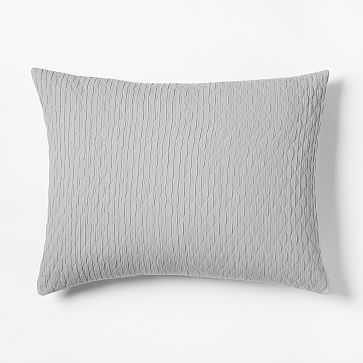 Ripple Texture Standard Sham, Platinum - West Elm