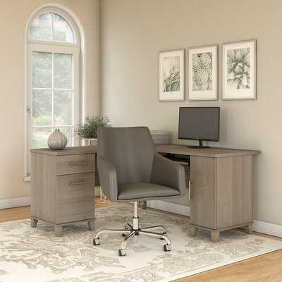 Kirchoff Reversible L-Shaped Desk and Chair Set - Wayfair