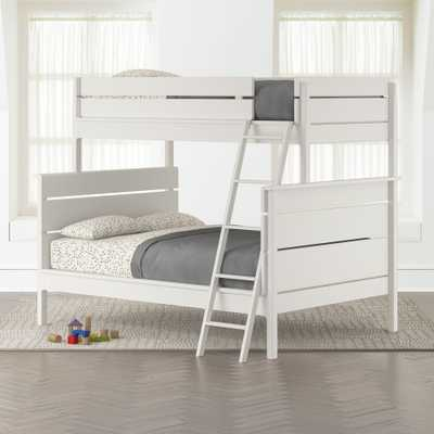 Wrightwood White Twin-Over-Full Bunk Bed - Crate and Barrel