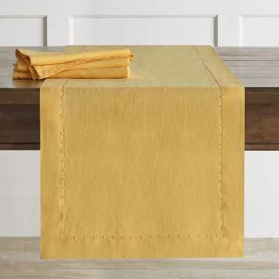 Italian Washed Linen Table Runner, Yellow - Williams Sonoma