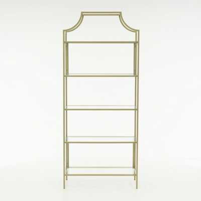 International Lux Satin Gold Bookcase - Home Depot