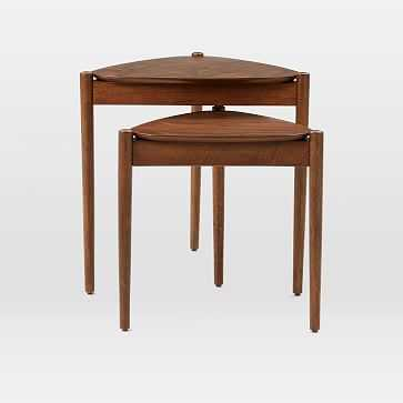 Retro Tripod Nesting Tables, Walnut - West Elm