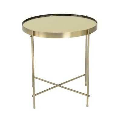 Eurostyle Trinity Round End Table in Brass - eBay