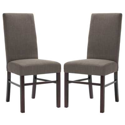 Charcoal Brown Dining Chair (Set of 2), Charcoal Brown/Cherry Mahogany - Home Depot