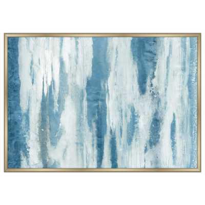 "59 in. x 43 in. ""Blue River II"" Framed Canvas Wall Art, Blue - Home Depot"