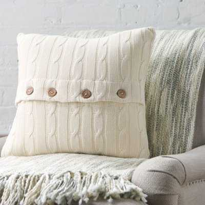 Harrietstown Cable-Knit Cotton Throw Pillow - Birch Lane