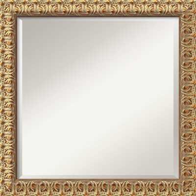 Florentine Gold Square Wall Mirror - Wayfair