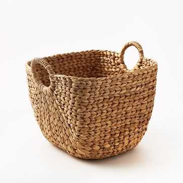 "Large Curved Basket, Natural - 12""H - West Elm"