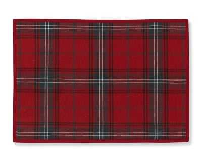 Classic Tartan Plaid Place Mats, Set of 4, Red - Williams Sonoma