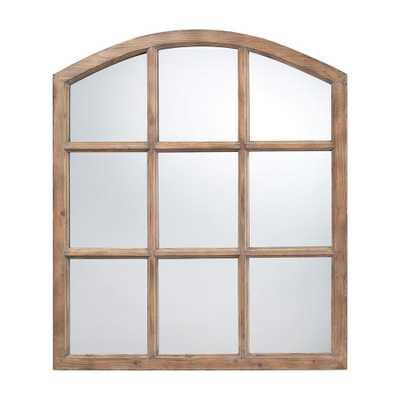 Union 37 in. x 33 in. Faux Window Framed Mirror - Home Depot