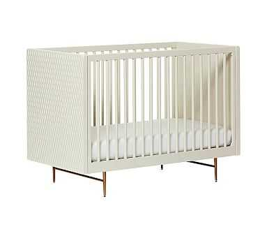 west elm x pbk Audrey Crib, Parchment, Flat Rate - Pottery Barn Kids