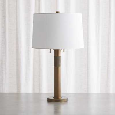 Jordan Brass Table Lamp - Crate and Barrel