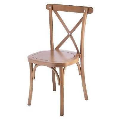 Crossback Stackable Honey Dining Chairs (Set of 2) - eBay