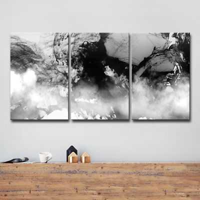 Orren Ellis 'Glitzy Mist XXI' 3 Piece Graphic Art on Wrapped Canvas Set - eBay
