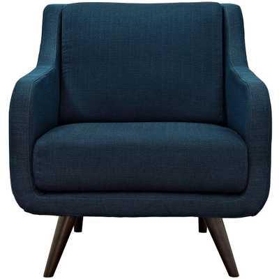 Verve Azure (Blue) Upholstered Fabric Armchair - Home Depot