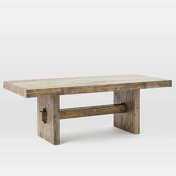 "Emmerson Dining Table 72"", Stone Gray Pine - West Elm"