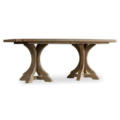 Vadim French Country Double Pedestal Dining Table - Kathy Kuo Home