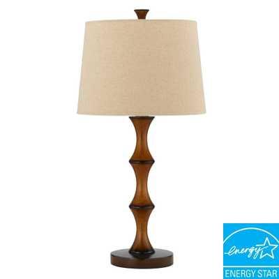 CAL Lighting 28 in. Brown Resin Bamboo Table Lamp - Home Depot