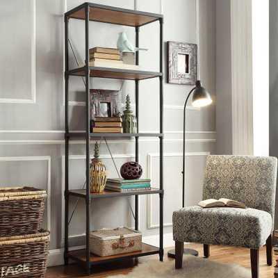 Addison Black Open Bookcase - Home Depot