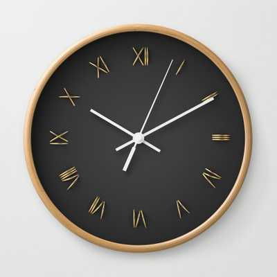 Time Is Gold Wall Clock - by Rzvn - Society6