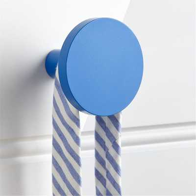 Round Blue Wall Knob - Crate and Barrel