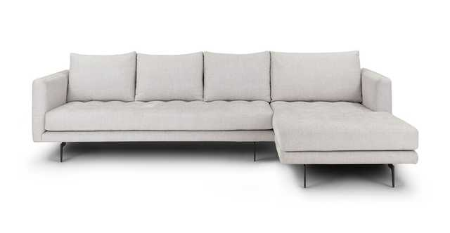 Parker Coconut White Right Sectional - Article