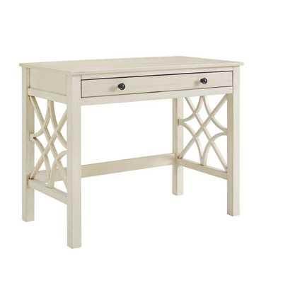 Linon Home Decor Sloane Antique White Writing Desk - Home Depot