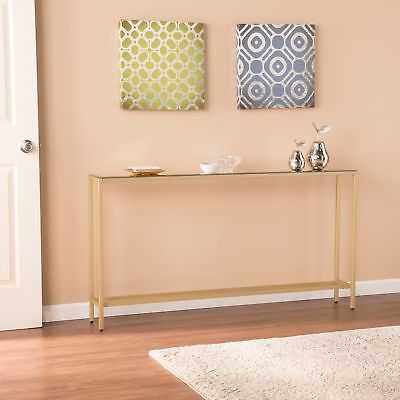 Harper Blvd Dunbar Narrow Long Console Table w/ Mirrored Top - Gold - eBay
