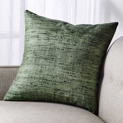 """Trevino Agave Green Pillow with Down-Alternative Insert 20"""" - Crate and Barrel"""