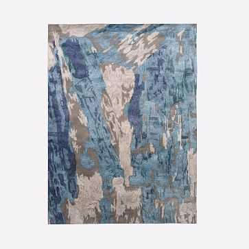 Cliffside Shine Rug, Blue Teal, 9'x12' - West Elm