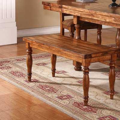 Sayles Wood Bench - Wayfair