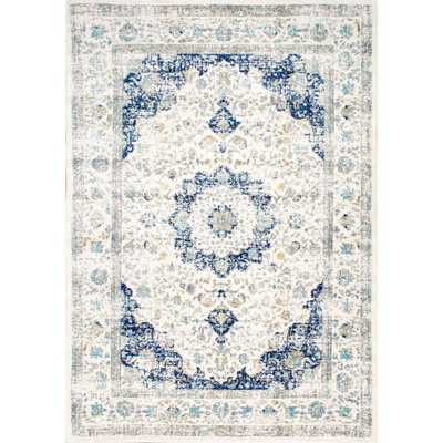 Verona Blue 7 ft. x 9 ft. Area Rug - Home Depot
