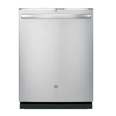 GE Top Control Dishwasher in Stainless Steel (Silver) with Stainless Steel Tub and Steam Prewash - Home Depot